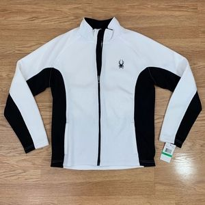 NWT Spyder Black and White Zip Up Jacket {CS}